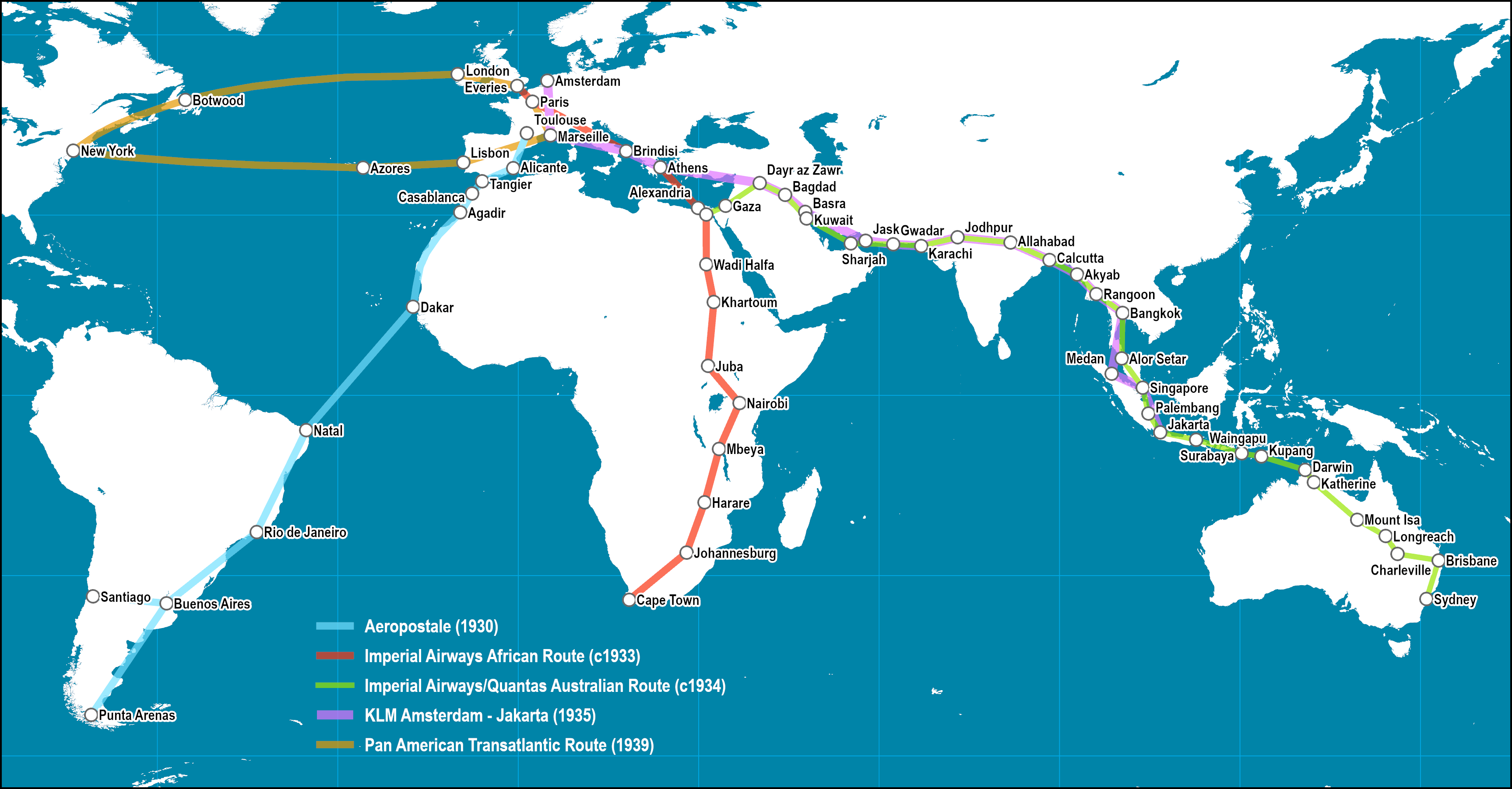 Picture of: Early Intercontinental Air Routes 1930s The Geography Of Transport Systems