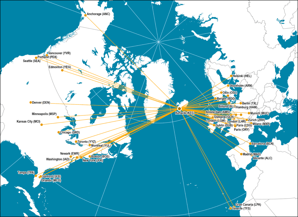 Longitudinal Intermediacy: Icelandair | The Geography of ... on casino express route map, xtra airways route map, jfk airtrain route map, xl airways route map, airline route map, jetblue route map, volaris route map, tame route map, union pacific railroad route map, republic airways holdings route map, delta airlines 757 seat map, tacv route map, lot polish route map, florida route map, new jersey transit route map, flying tiger line route map, south african airways route map, biman route map,