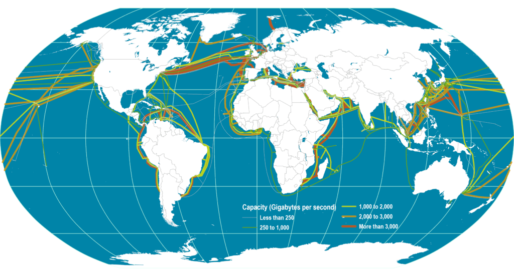 Global Submarine Cable Network | The Geography of Transport ...